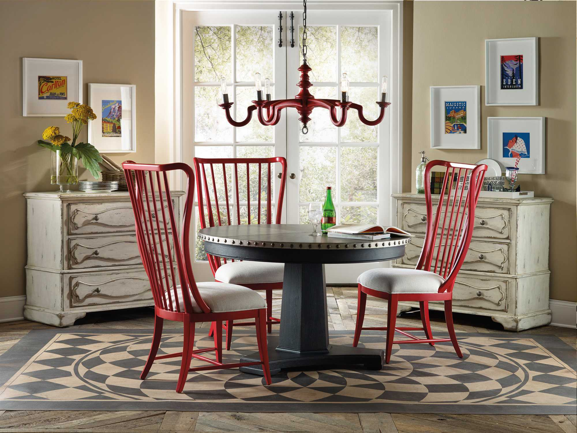 hooker furniture sanctuary dining room set hoo540275203set
