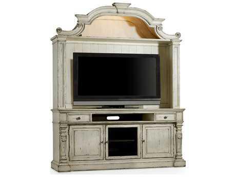 Hooker Furniture Sanctuary Vintage Chalky White 76''L x 21''W Entertainment Center