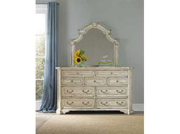 Hooker Furniture Sanctuary Vintage Chalky White Double Dresser & Mirror Set