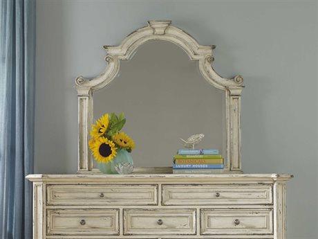 Hooker Furniture Sanctuary Vintage Chalky White 46''W x 41''H Landscape Dresser Mirror