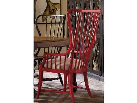 Hooker Furniture Sanctuary Ultra True Red Tall Spindle Dining Arm Chair