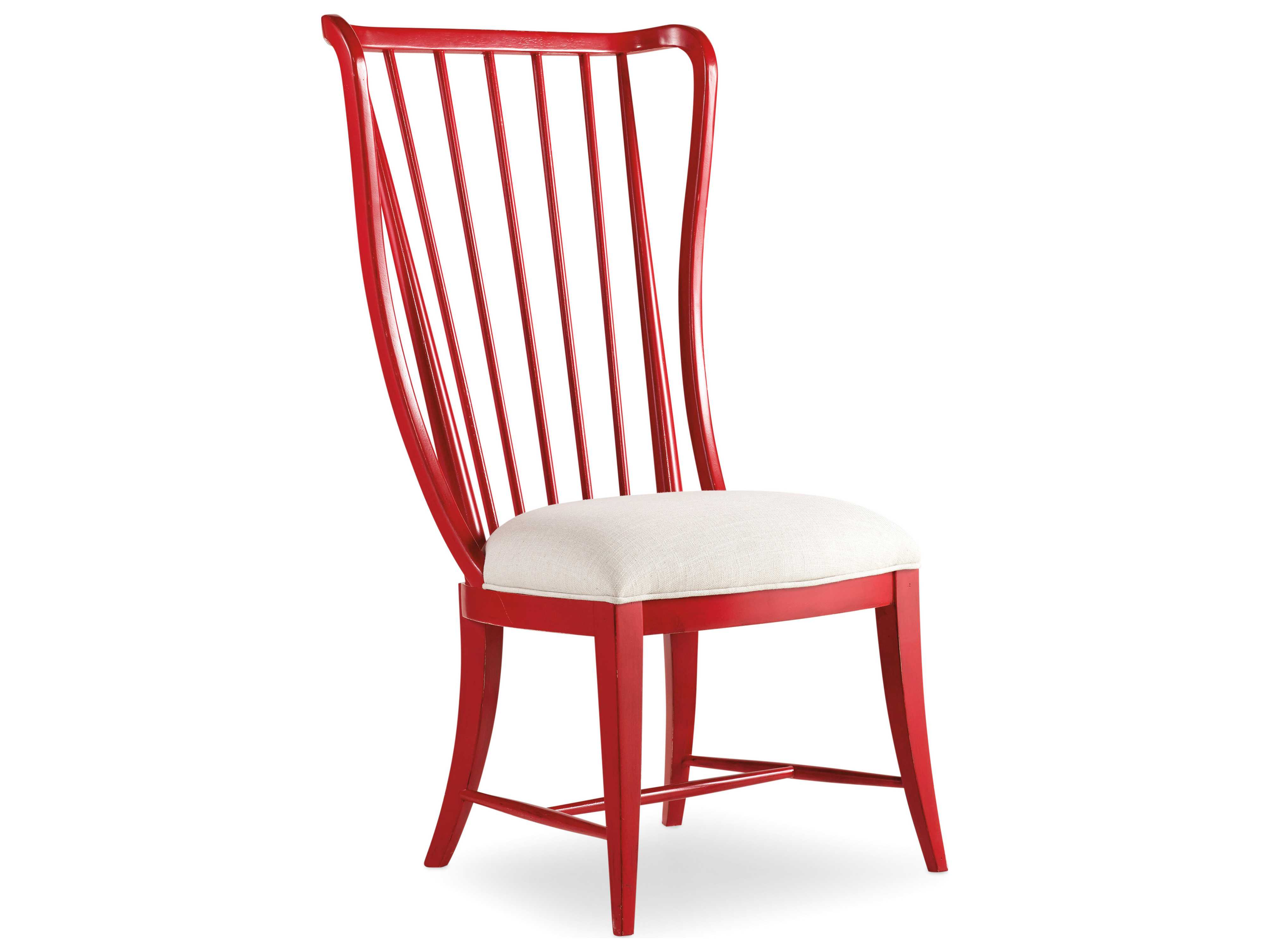 ... Hooker Furniture Sanctuary Ultra True Red Tall Spindle Dining Side Chair  ...