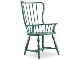 Sanctuary Sky High Azure Blue Spindle Dining Arm Chair