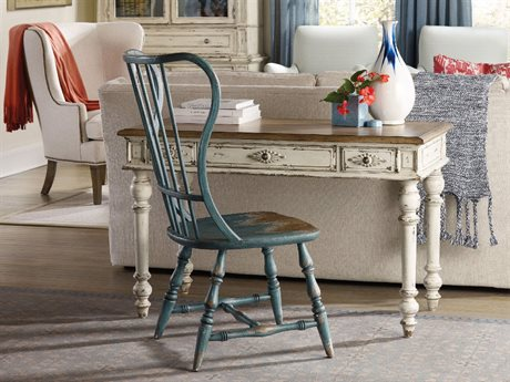 Hooker Furniture Sanctuary Sky High Azure Blue Spindle Dining Side Chair