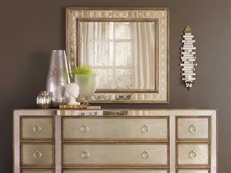 Hooker Furniture Sanctuary Medium Wood 34''W x 37''H Rectangular Wall Mirror