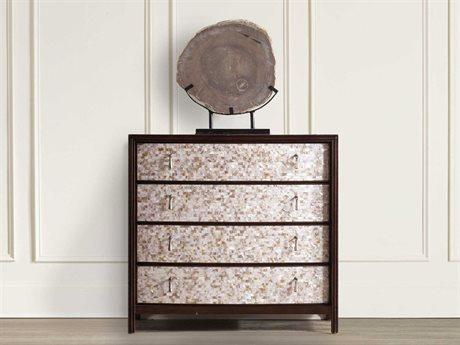 Hooker Furniture Dark Wood 38''W x 19''D Mother of Pearl Accent Chest