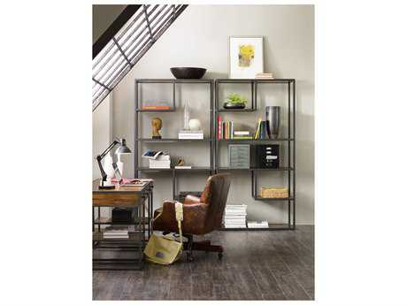 Hooker Furniture Chadwick Dark Wood Bunching Bookcase