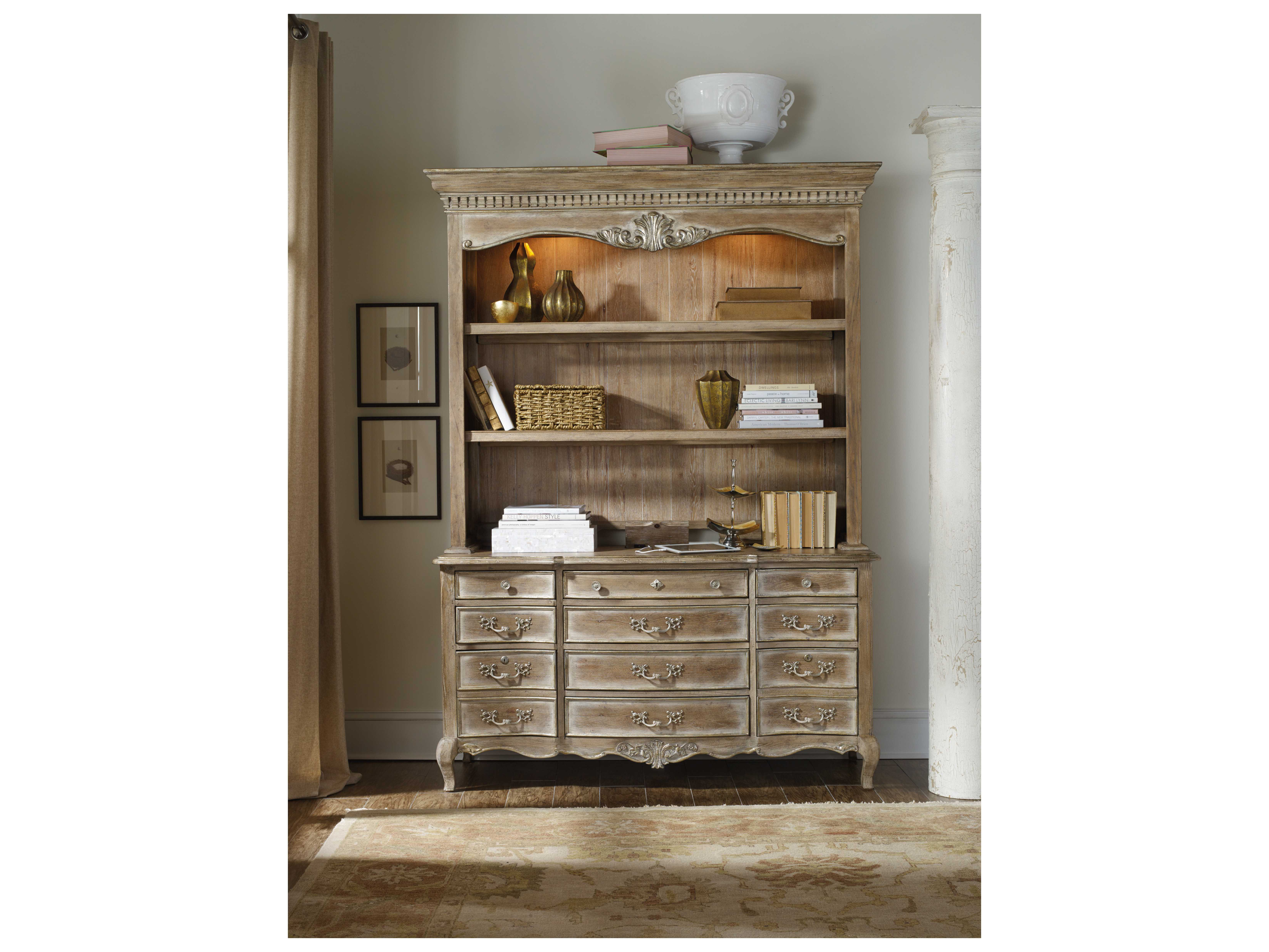 Credenza La Maison : Hooker furniture la maison du travial taupe with white & light gold