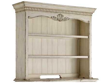 Hooker Furniture La Maison du Travial Off White with Antique Rub Gray Credenza Hutch