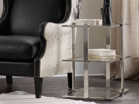 Hooker Furniture East Village Silver 24''L x 18''W Rectangular Accent End Table