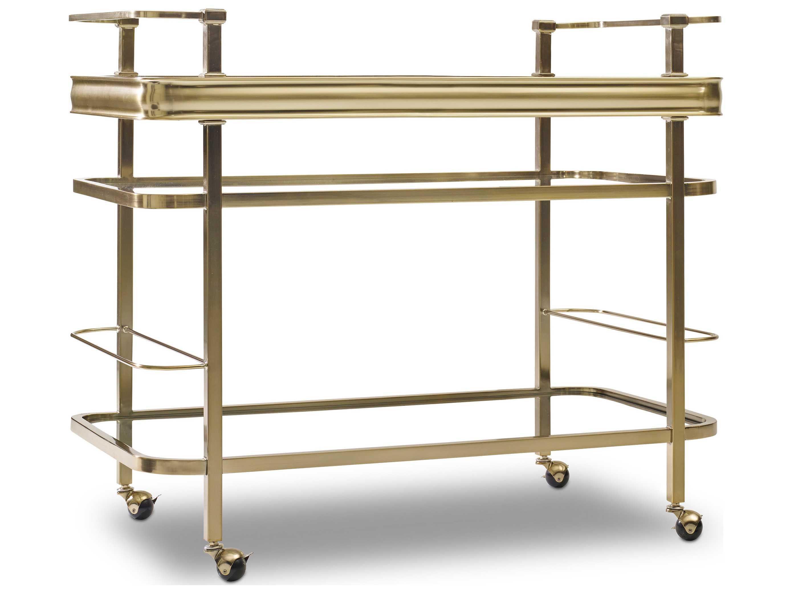 Hooker Furniture Highland Park Gold Kitchen Bar Cart