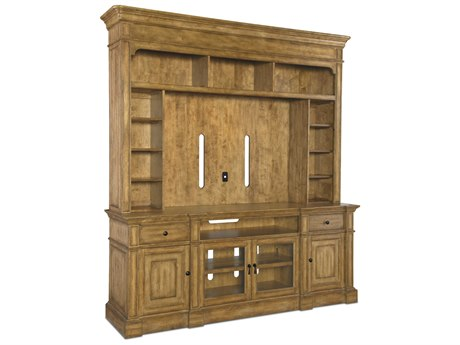 Hooker Furniture Archivist Toffee 87''L x 22''W Two-Piece Entertainment Center