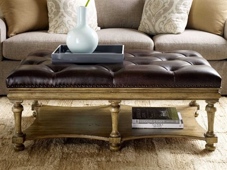 Hooker Furniture Archivist Toffee 50''L x 30''W Rectangular Ottoman Cocktail Table