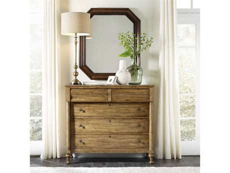 Hooker Furniture Archivist Toffee Five-Drawers Single Dresser with Mirror Set