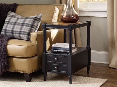 Hooker Furniture Ashton Black 16''L x 24''W Rectangular Chairside End Table