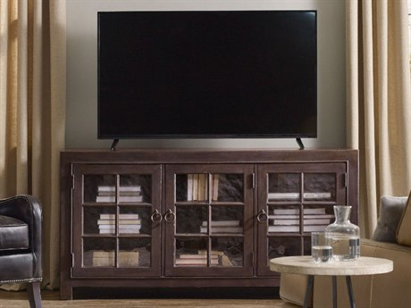 Hooker Furniture Black 64''L x 20''W Rectangular Entertainment TV Console