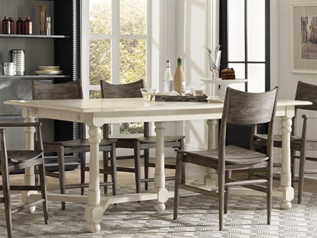 Hooker Furniture Studio 7H White Oak 76''-116''L x 40''W Rectangular Extendable Dining Table