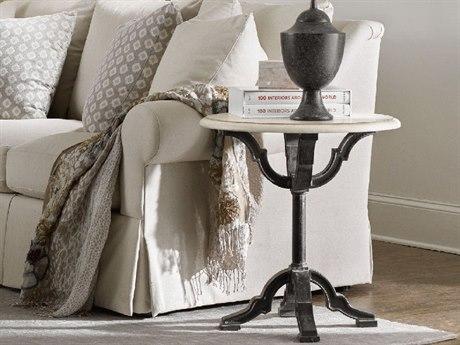 Hooker Furniture Studio 7H Soft Antique White 24'' Wide Round Pedestal Table