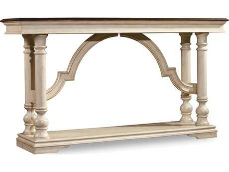 Hooker Furniture Leesburg Antique White 62''L x 16''W Rectangular Console Table