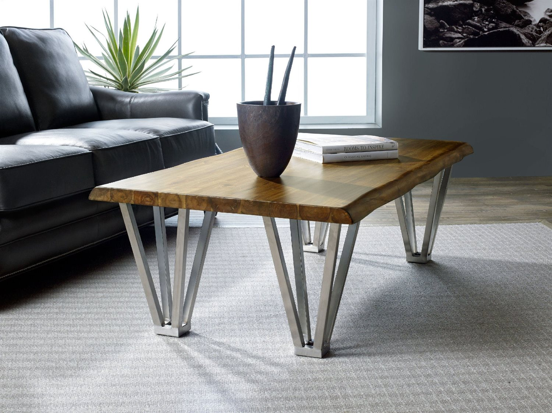 Hooker Furniture Live Edge Medium Wood 62 39 39 L X 32 39 39 W Rectangular Cocktail Table Hoo549050001