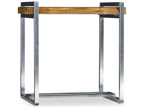 Hooker Furniture Live Edge Medium Wood 24''L x 20''W Rectangular End Table
