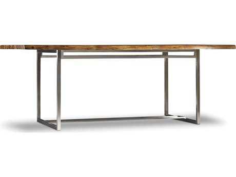 Hooker Furniture Live Edge Medium Wood 82''L x 42''W Rectangular Dining Table