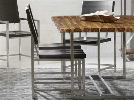 Hooker Furniture Live Edge Dark Wood Dining Side Chair
