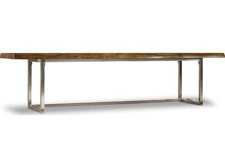 Hooker Furniture Live Edge Medium Wood Accent Edge Bench
