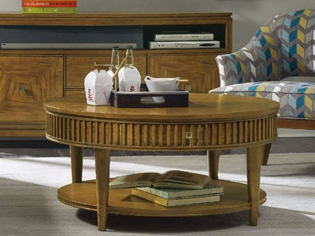 Hooker Furniture Retropolitan Light Wood 40'' Wide Round Cocktail Table