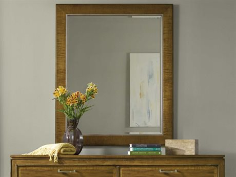 Hooker Furniture Retropolitan Soft Caramel 48''W x 40''H Rectangular Wall Mirror