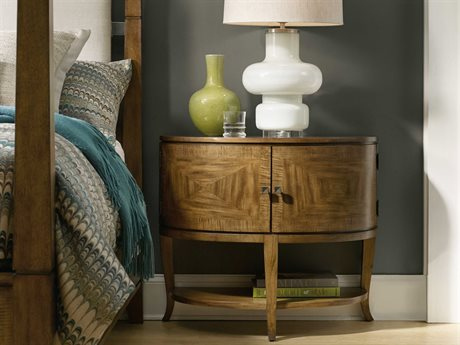 Hooker Furniture Retropolitan Soft Caramel 34''W x 17''D Demilune Nightstand