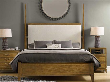Hooker Furniture Retropolitan Soft Caramel Queen Size Poster Bed