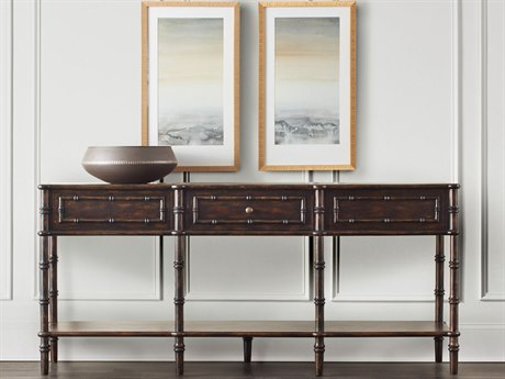 Hooker Furniture Bamboo Dark Wood 72''L x 18''W Rectangular Console Table