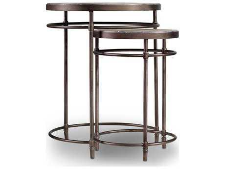 Hooker Furniture Saint Armand Light Wood 19'' Wide Round Nesting Table