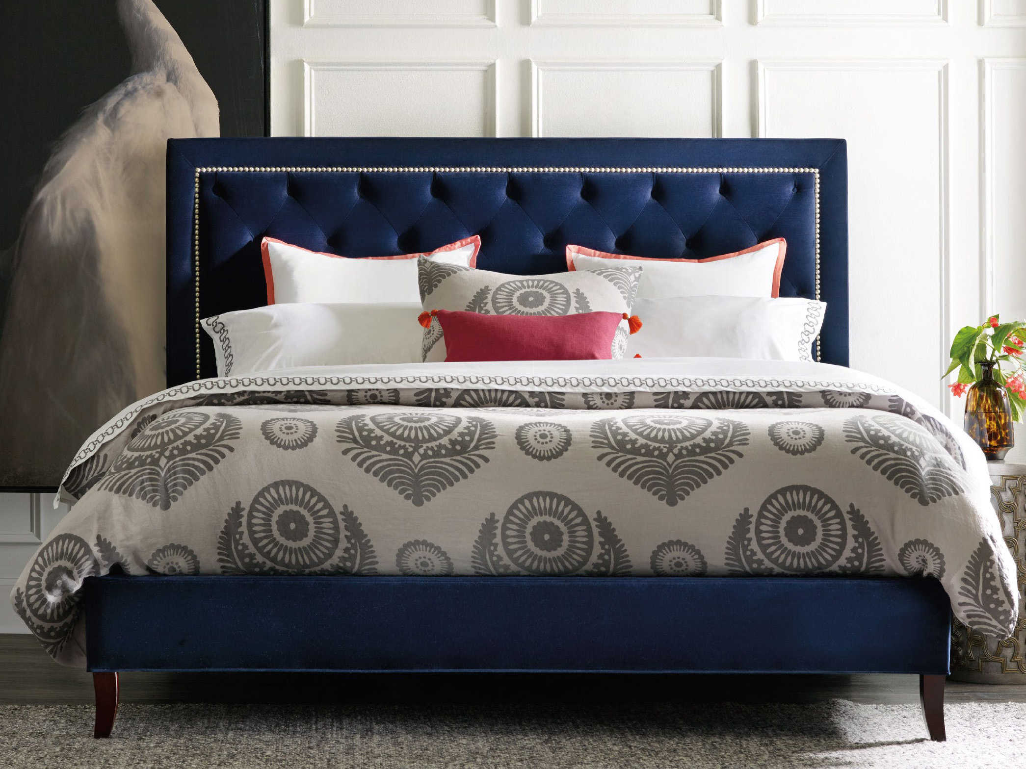 hooker furniture nest theory jay king size panel bed hoo56294866. Black Bedroom Furniture Sets. Home Design Ideas