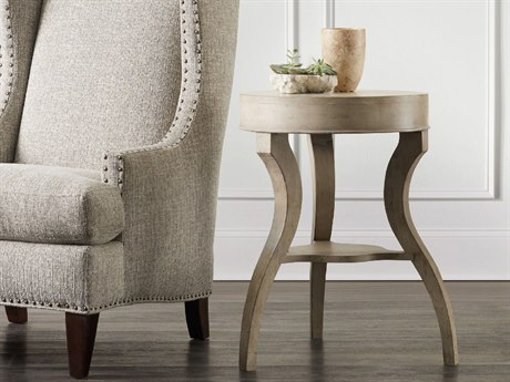 Hooker Furniture Refuge White Oak 23'' Wide Round Accent End Table