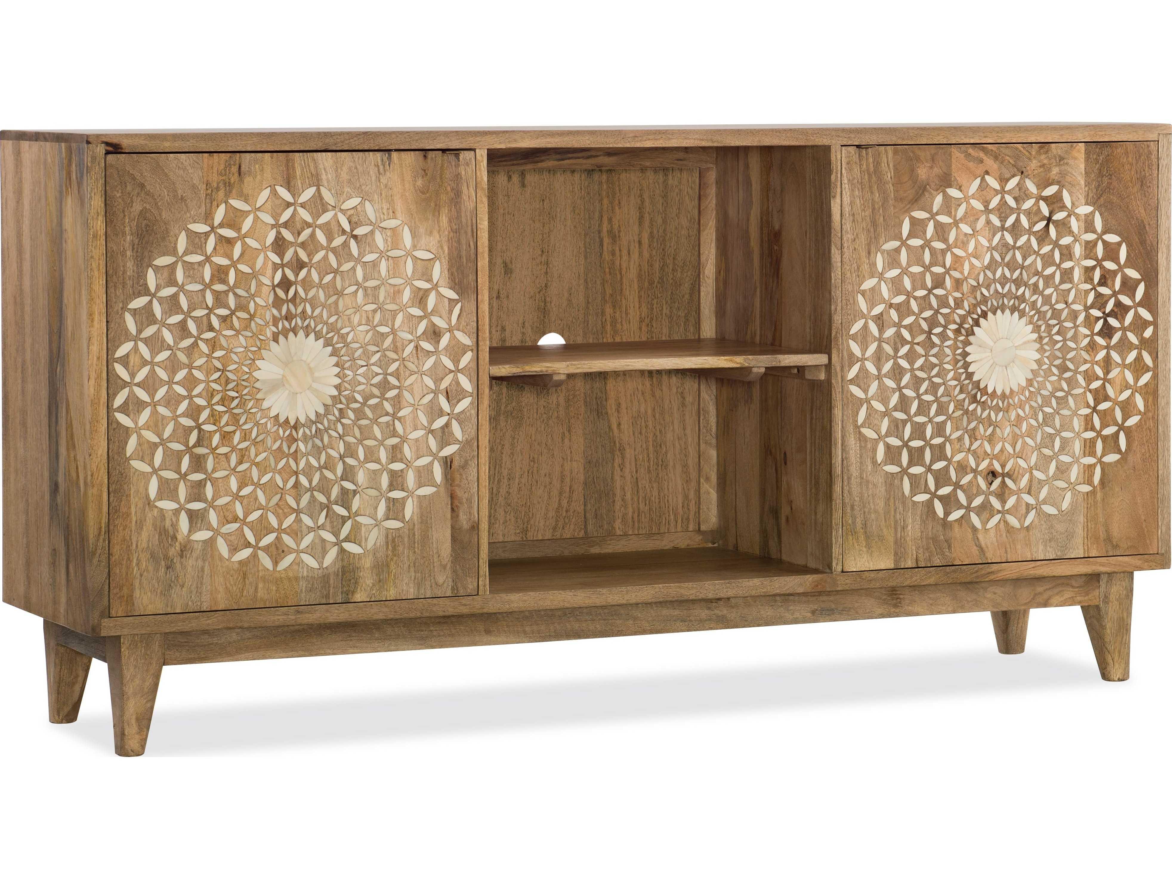 ... Hooker Furniture Point Reyes Light Wood With Bone Inlay 69u0027u0027L X 16u0027 ...