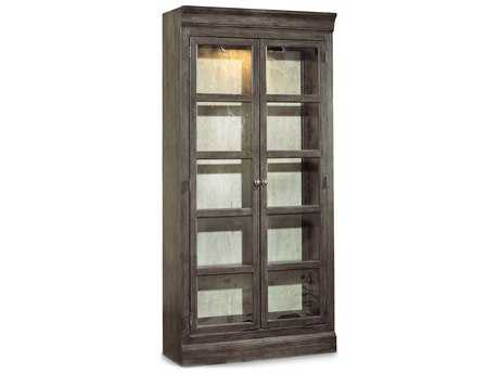 Hooker Furniture Vintage West Dramatic Dark Charcoal Bunching Curio