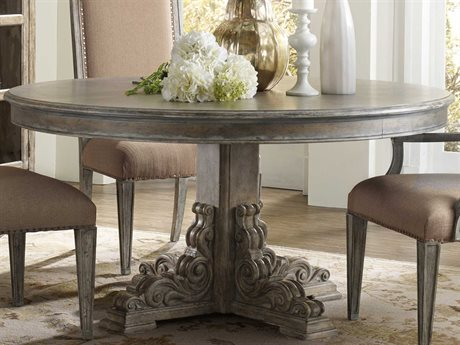 Hooker Furniture True Vintage Soft Driftwood 60'' Wide Round Dining Table