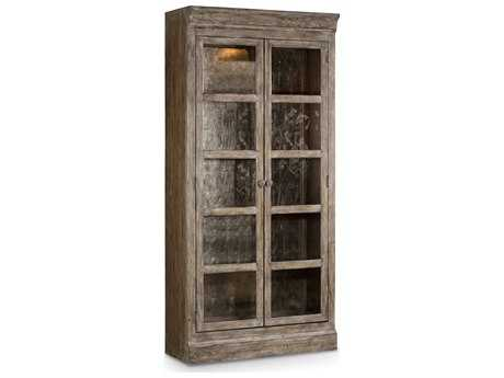 Hooker Furniture True Vintage Aged Soft Driftwood with True Vintage Bunching Curio