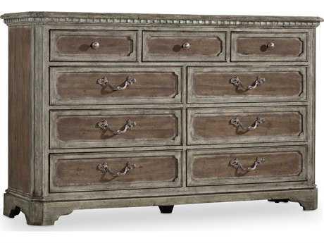 Hooker Furniture True Vintage Soft Driftwood Double Dresser