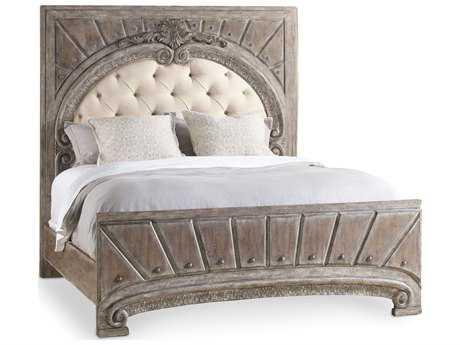 Hooker Furniture True Vintage Soft Driftwood King Size Panel Bed
