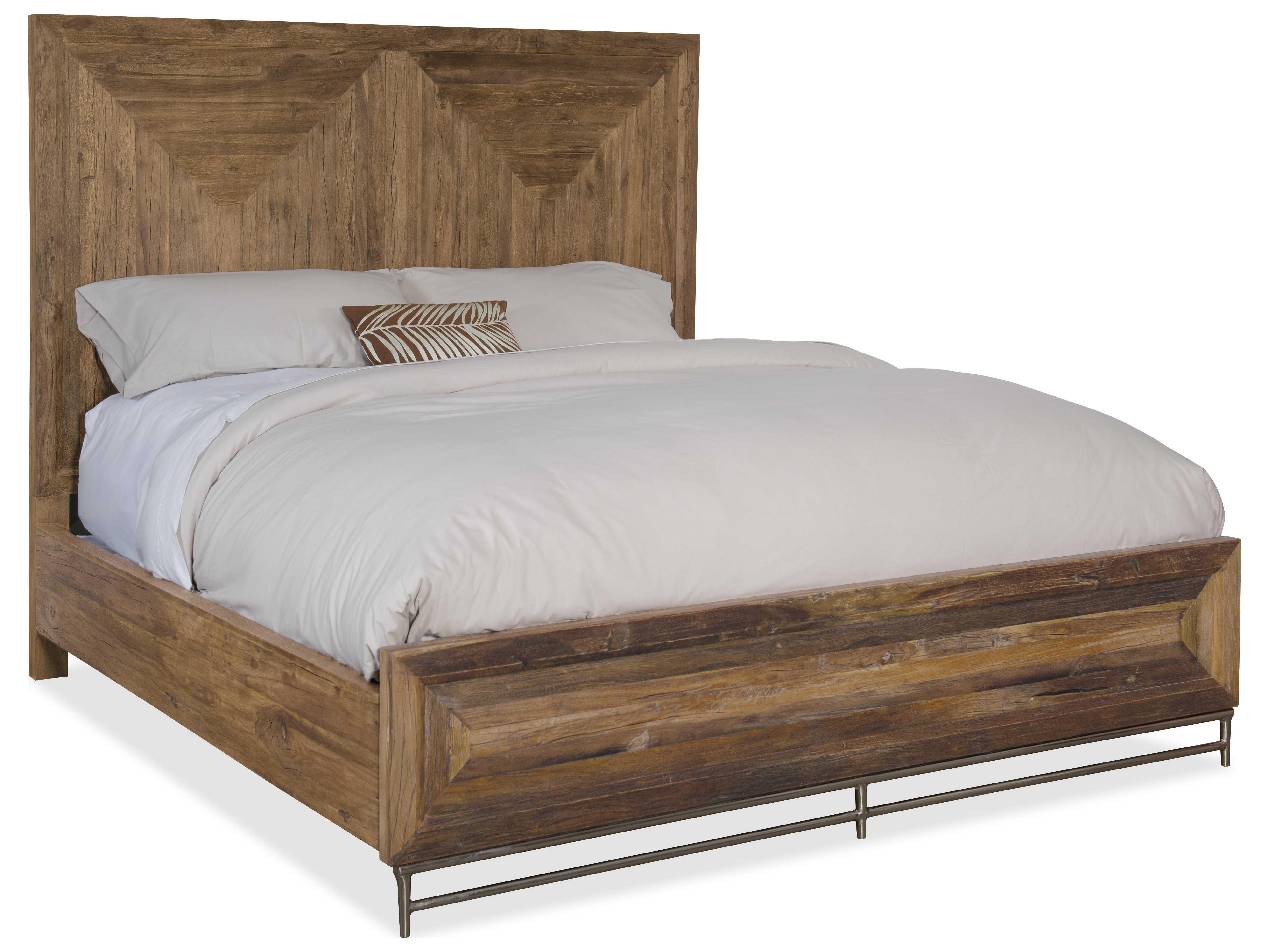 Hooker Furniture L 39 Usine Medium Wood King Size Panel Bed Hoo595090266mwd
