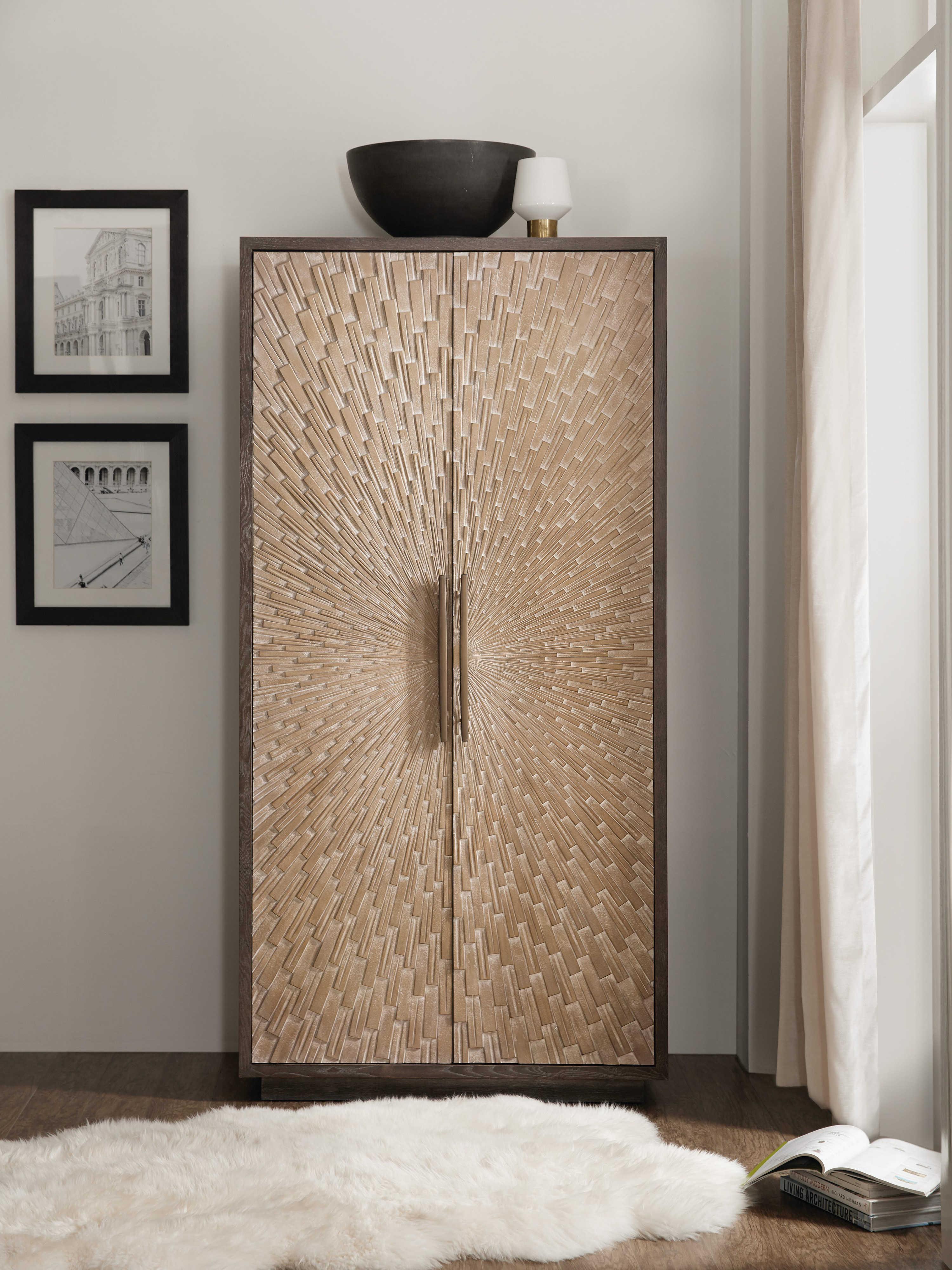 Point Reyes Dark Wood Wardrobe Armoire