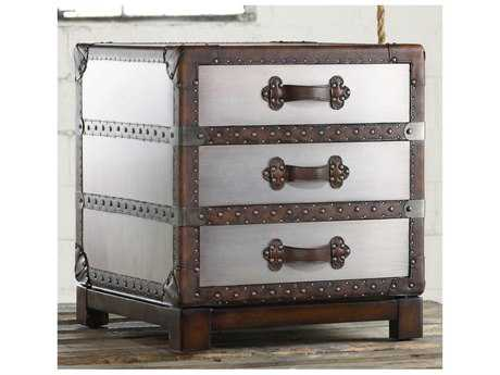 Hooker Furniture Melange Faux Zinc 22''W x 22''D Bongurant Accent Chest