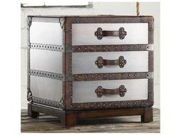 Melange Faux Zinc 22''W x 22''D Bongurant Accent Chest