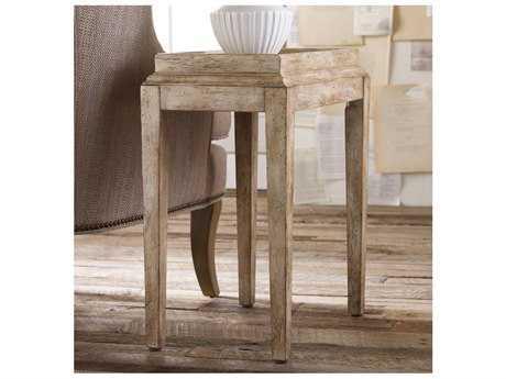 Hooker Furniture Melange Soft Oyster 20''L x 12''W Rectangular Coralie Accent End Table
