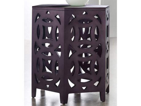 Hooker Furniture Melange Purple 22''L x 19''W Hexagon End Table