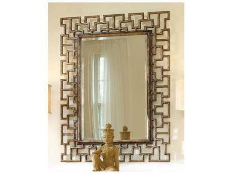 Hooker Furniture Melange Gold 36''W x 47''H Rectangular Fretwork Wall Mirror