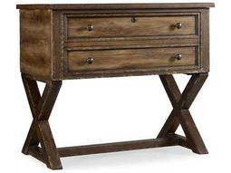 Melange Medium Wood X-Base Lateral File Cabinet